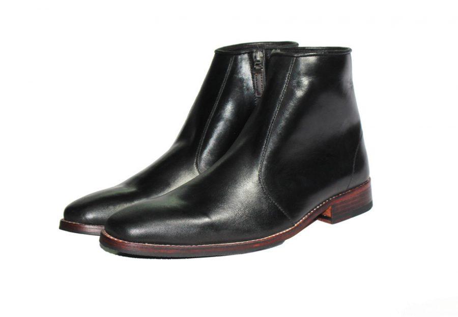 giày boot nam đế da gót gỗ